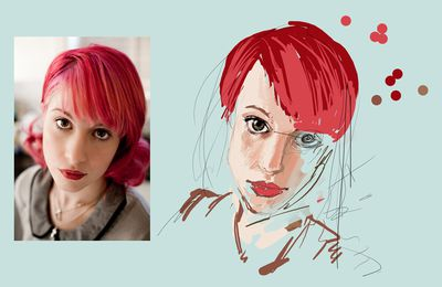 Hayley Williams WIP numériportrait