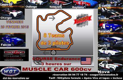2eme manche - Muscle Car Sprint Cup Drive4Real - vendredi 20 fevrier