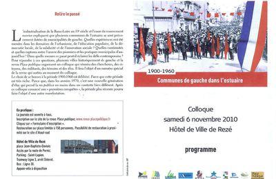 Colloque à Rezé le 6 novembre : Communes de gauche dans l'estuaire