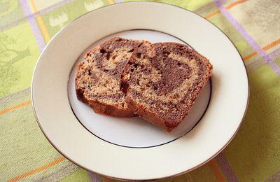 Cake marbré choco-pralin
