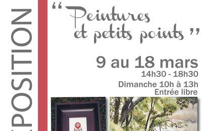 A Villecresnes, une exposition qui associe la broderie et la peinture