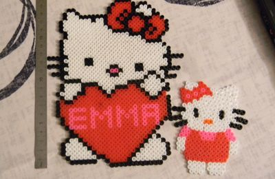 Hello kitty en perles à repasser