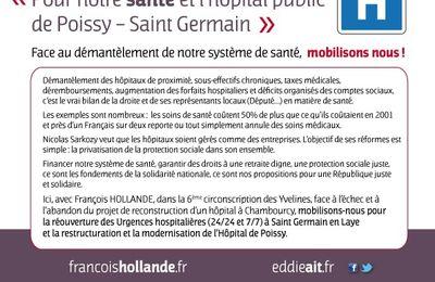 Appel à la mobilisation pour notre santé et l'hôpital public de Poissy/Saint-Germain