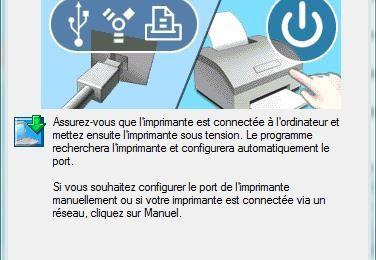 Imprimante Epson Stylus SX420W : Configurer la liaison WiFi.