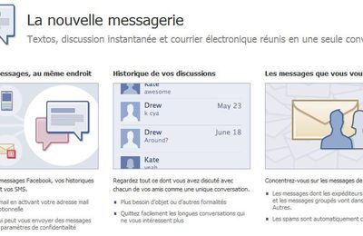 La messagerie selon Facebook & Inscription.