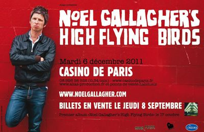 Noel Gallagher en concert à Paris et Bruxelles...