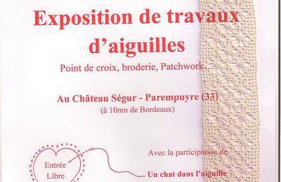Exposition broderie travaux d' aiguilles - PAREMPUYRE (33)