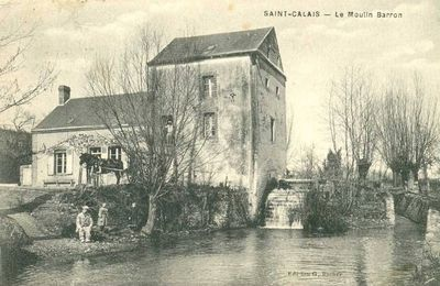 Le Moulin Baron à Saint-Calais (72) et ses occupants