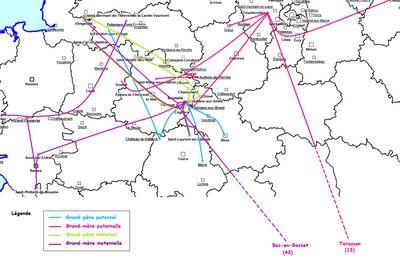 Migrations de mes ancêtres