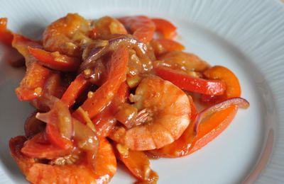 Crevettes sautées chinoises