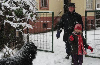 Le bonhomme de neige et Emma