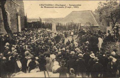 CHAVAGNAC - Inauguration du monument aux morts