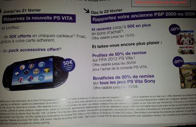 Offres PS Vita à la FNAC !