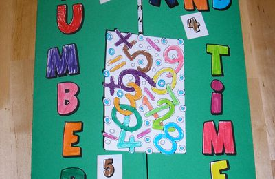 Lapbook en anglais: numbers and time