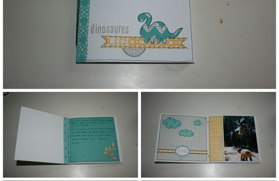Mini-album dinosaure