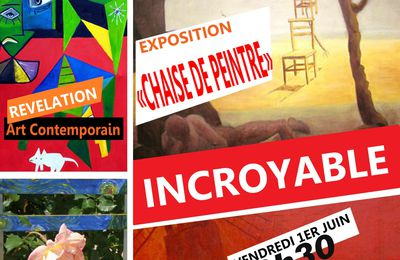 "Exposition ""chaise de peintre"" Art contemporain le 01 juin 2012"
