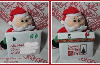 """Enveloppe brodée """"Noël"""""""