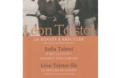La Sonate à Kreutzer de Léon Tolstoï