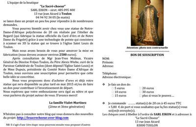 Souscription Notre Dame d'Afrique