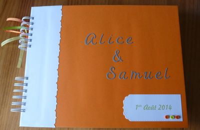 Livre d'or version Orange et Vert Anis