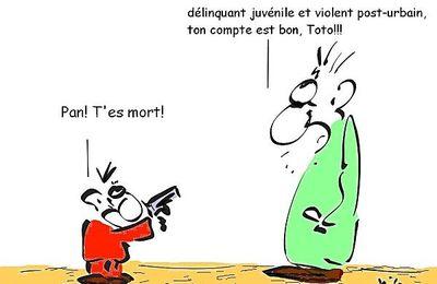 Quand Louis Sarkozy joue aux billes avec une policière...