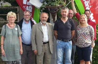 Le parti de Gauche rend hommage à Jaurès à Petit Couronne