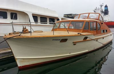 Stephens 1951 43 ft Restoration Long Beach California .