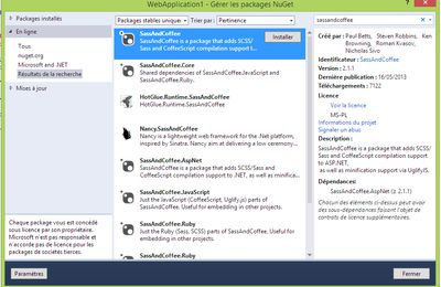 SASS (avec Visual Studio 2013)