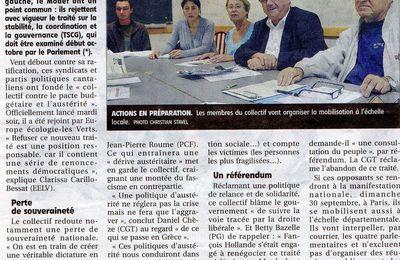 Création d'un collectif cantalien contre le pacte budgéaire