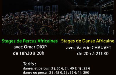 Stages de Danses et Percu 23-24-25 avril 2012