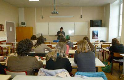Interventions de Bernard Giusti au Lycée Jacques Coeur à Bourges