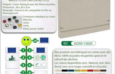 Mallette porte-documents en carton recyclé GO50-12020