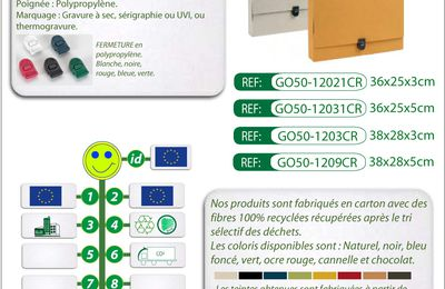 Mallette ou porte-document en carton recyclé GO50-12021CR