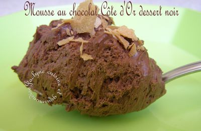 Mousse au chocolat Côte d'Or dessert noir ♥ Excellent * tenue impeccable