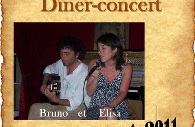 Dîner concert à l'auberge des Poêtes de Méré, le 21 octobre 2011