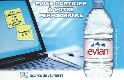 Carnet de post it EVIAN