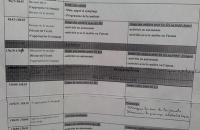 Compte-Rendu de la Réunion de rentrée des GS (17/09/2012)