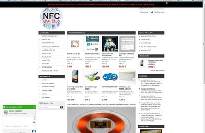 LIVE CHAT SUPPORT sur www.nfc-smartags.com