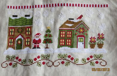 Poinsettia place (Santa Village Country Cottage Neddleworks)