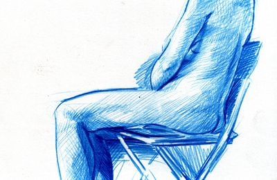 Nude on a chair