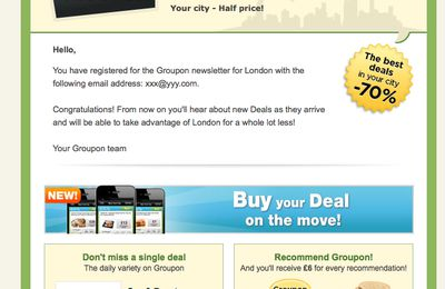 Groupon is a massive spammer without optin and optout
