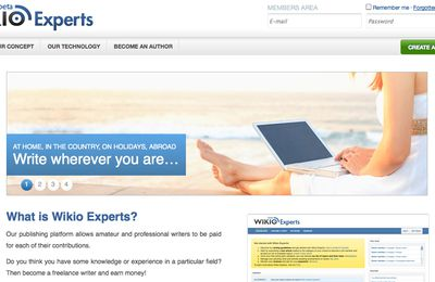 Wikio Experts: earn money from home as a freelance writer