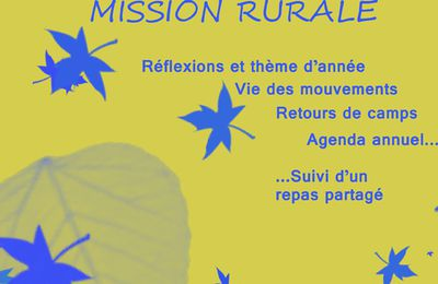 23 Octobre : Fete de la mission rurale