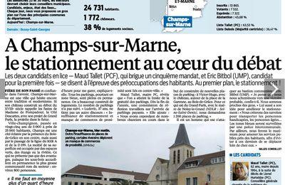 Elections Champs-sur-Marne : le ras le bol des campésiens