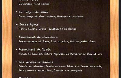le menu de la semaine - du 4 au 10 octobre 2010