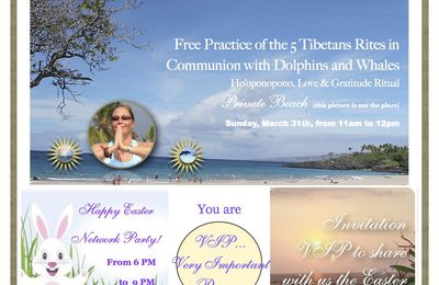 Invitation VIP to celebrate Easter with us in Big Island, Hawaii!...Namastaloha!