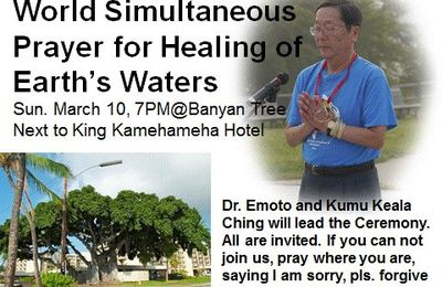 World Simultaneous Prayer for Healing of Earth's Water Sunday March 10, 7pm