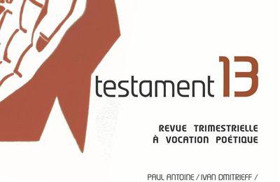 revue testament 13