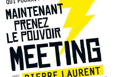 Soyons nombreux au grand meeting du Front de gauche avec Pierre Laurent !