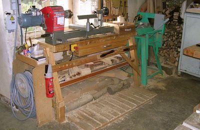 Atelier de tournage sur bois